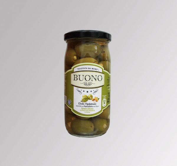 Grüne Oliven gefüllt mit Mandeln (360 g)